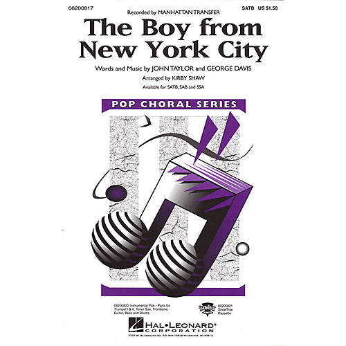 Hal Leonard The Boy from New York City SATB by The Manhattan Transfer arranged by Kirby Shaw
