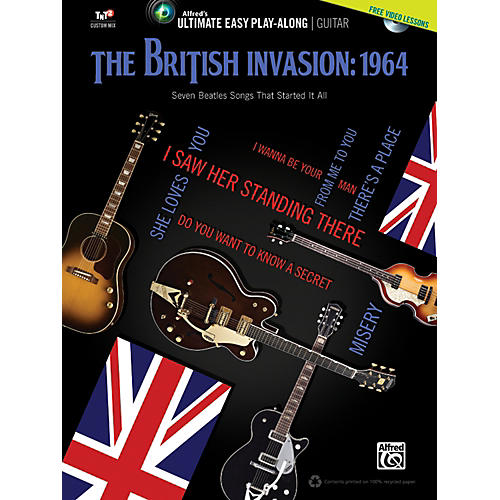 Alfred The British Invasion 1964 Ultimate Easy Guitar Play-Along (Book & DVD)