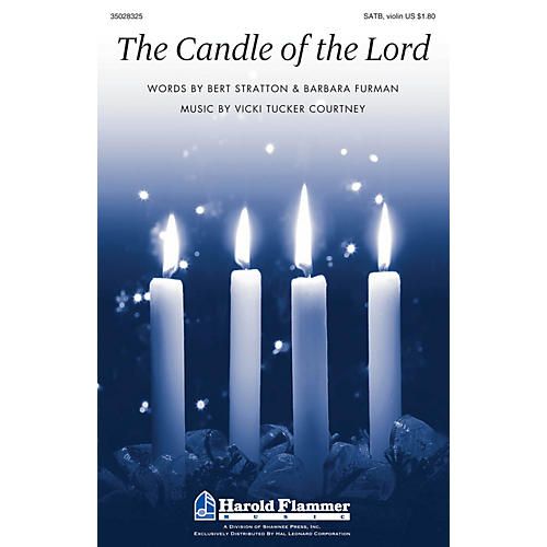 Shawnee Press The Candle of the Lord SATB, VIOLIN composed by Vicki Tucker Courtney