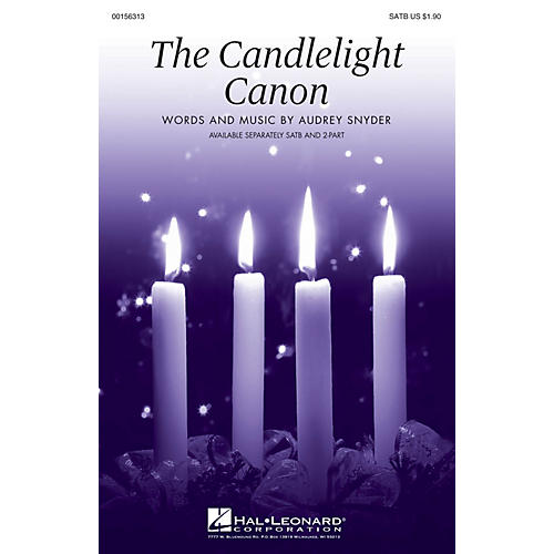Hal Leonard The Candlelight Canon SATB composed by Audrey Snyder