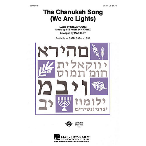 Hal Leonard The Chanukah Song (We Are Lights) SAB Arranged by Mac Huff