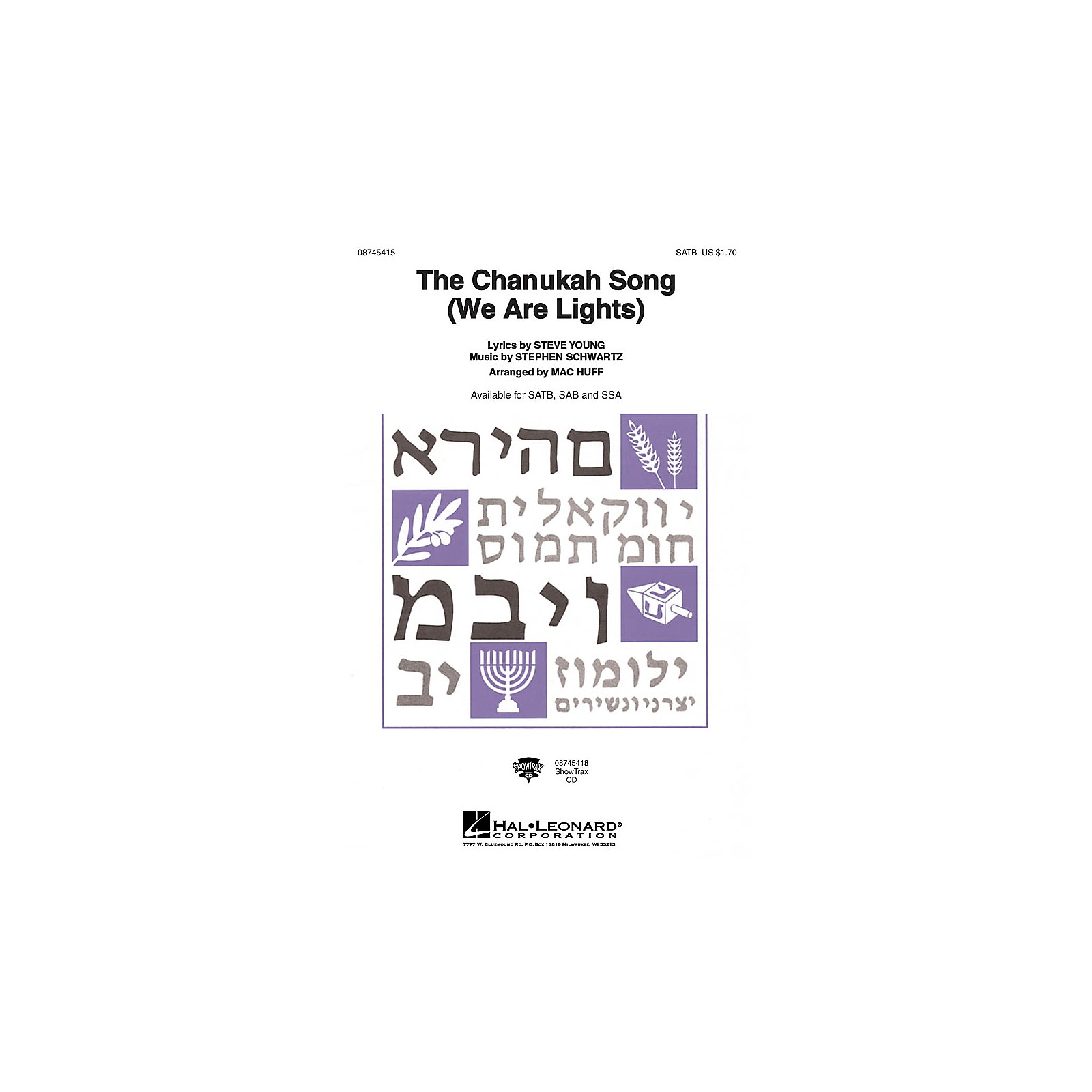 Hal Leonard The Chanukah Song (We Are Lights) SSA Arranged by Mac Huff