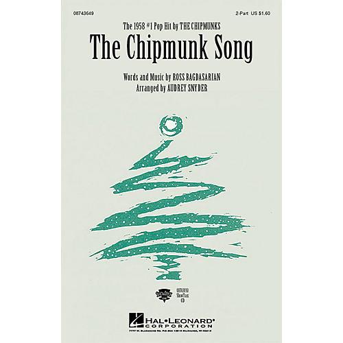 Hal Leonard The Chipmunk Song 2-Part arranged by Audrey Snyder