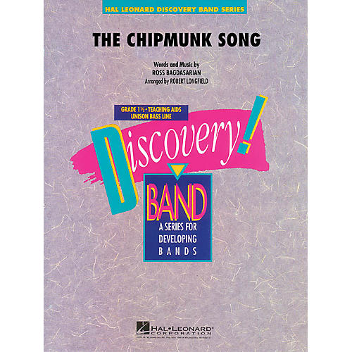 Hal Leonard The Chipmunk Song Concert Band Level 1.5 Arranged by Robert Longfield