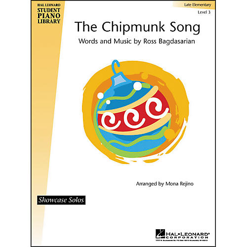 Hal Leonard The Chipmunk Song Late Elementary Level 3 Showcase Solos Hal Leonard Student Piano Library by Mona Rejino