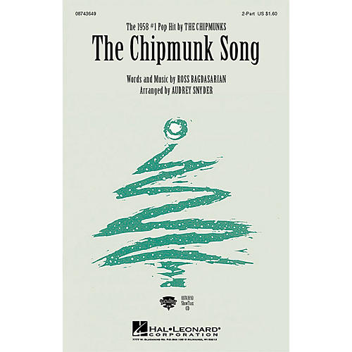 Hal Leonard The Chipmunk Song ShowTrax CD Arranged by Audrey Snyder