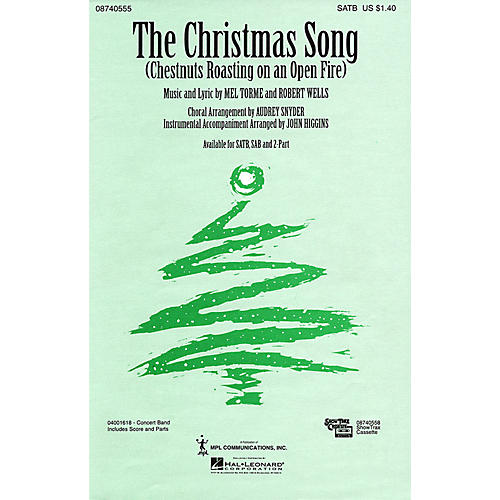Hal Leonard The Christmas Song (2-Part and Piano) 2-Part Arranged by Audrey Snyder