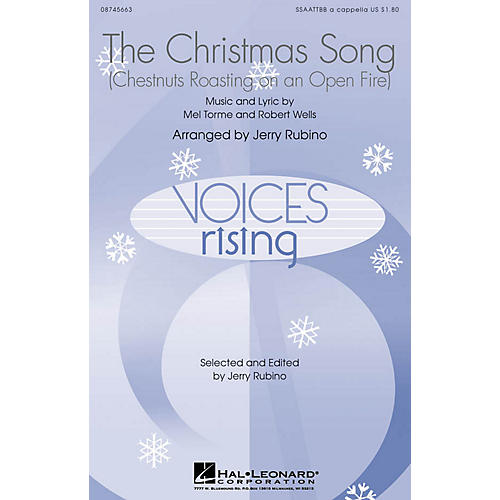 Hal Leonard The Christmas Song (Chestnuts Roasting on an Open Fire) SSAATTBB A Cappella arranged by Jerry Rubino