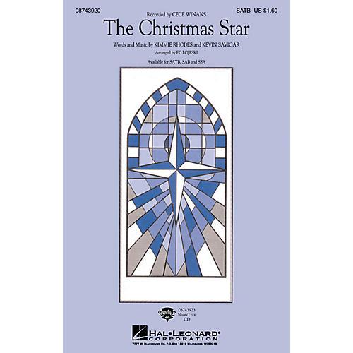 Hal Leonard The Christmas Star SATB by CeCe Winans arranged by Ed Lojeski