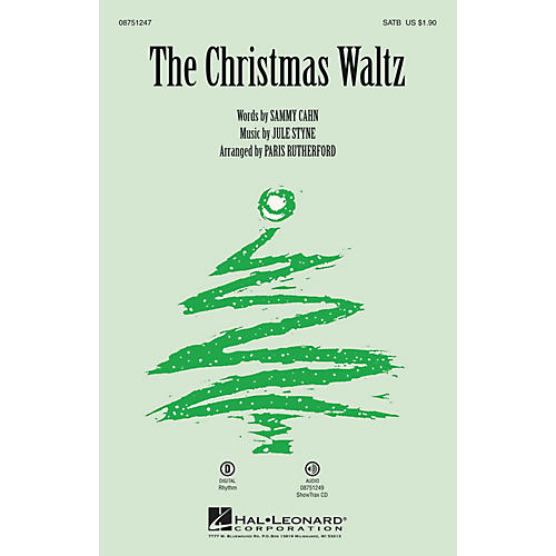 Hal Leonard The Christmas Waltz SATB arranged by Paris Rutherford