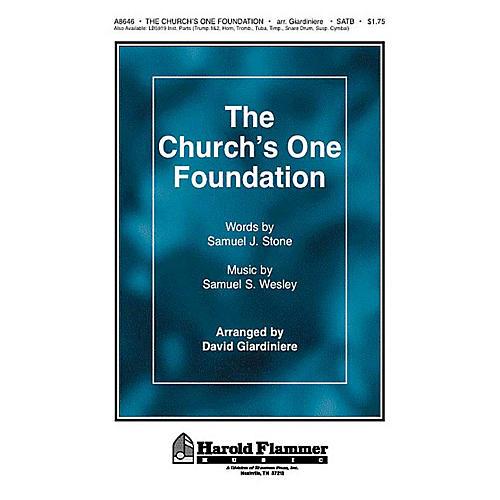 Shawnee Press The Church's One Foundation SATB arranged by David Giardiniere