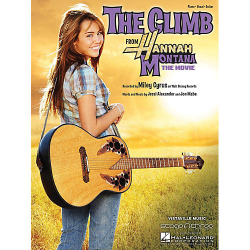 Hal Leonard The Climb by Miley Cyrus arranged for piano, vocal and guitar