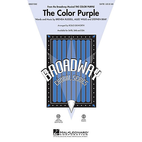 Hal Leonard The Color Purple (from The Color Purple) SAB Arranged by Rollo Dilworth