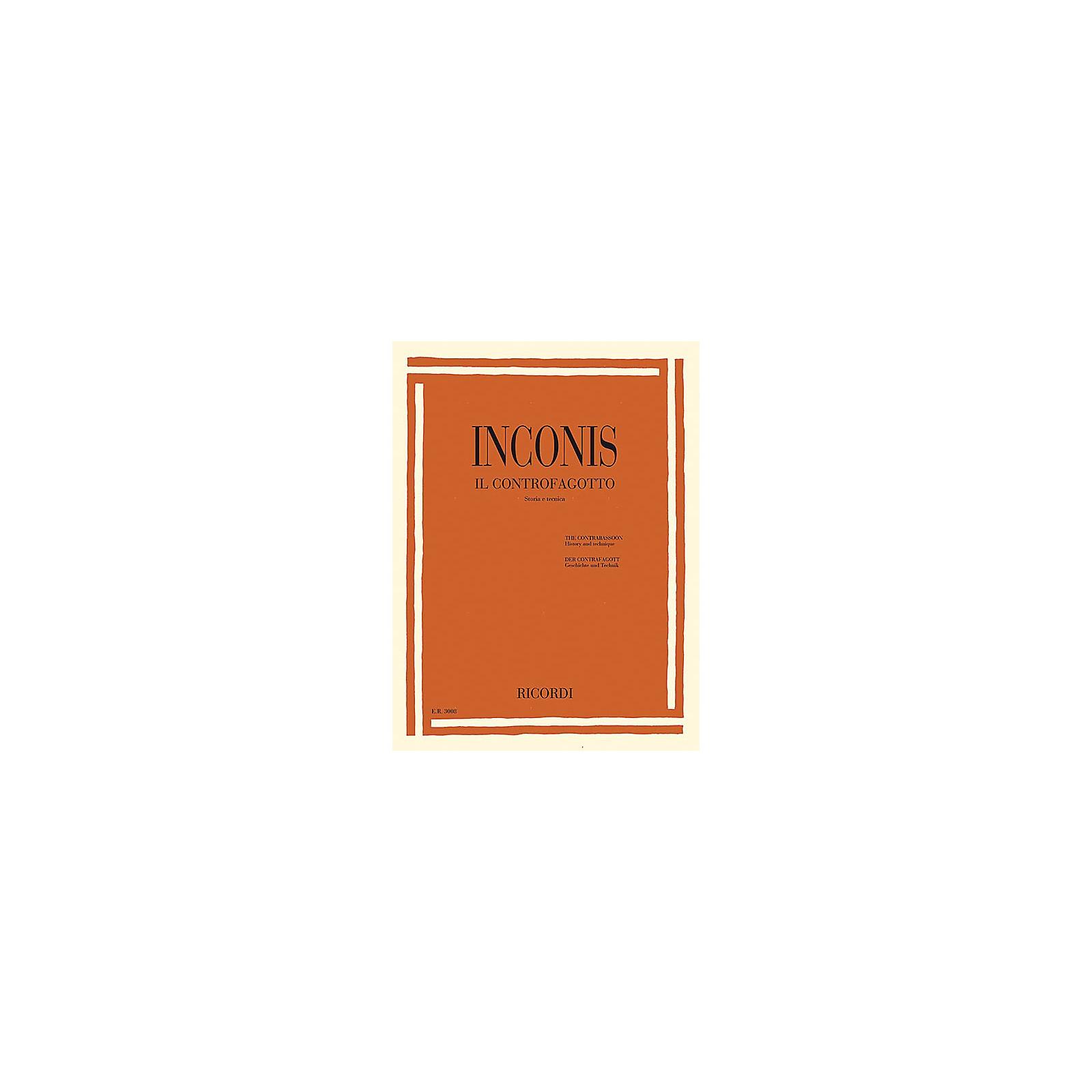 Ricordi The Contrabassoon (Il Controfagotto) (History and Technique (Storia e tecnica)) Woodwind Series Softcover