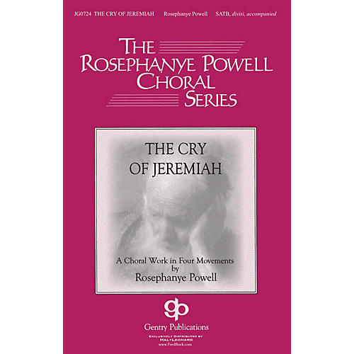 Gentry Publications The Cry of Jeremiah ORGAN SCORE Composed by Rosephanye Powell