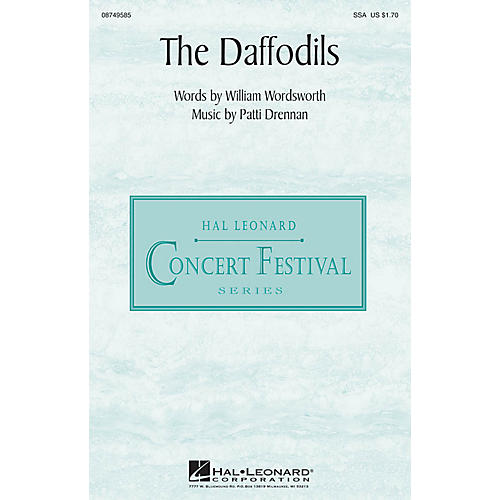 Hal Leonard The Daffodils SSA composed by Patti Drennan