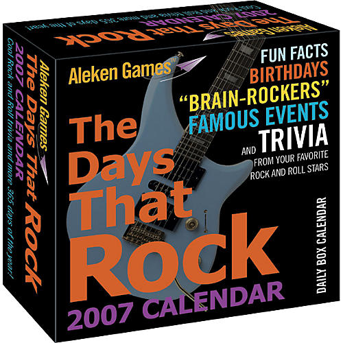 Aleken Games The Days That Rock 2007 Daily Calendar