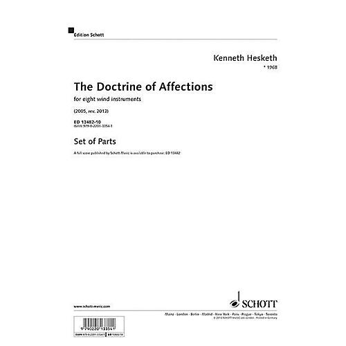 Hal Leonard The Doctrine Of Affections For 8 Wind Instruments, Parts Woodwind Ensemble Series Softcover
