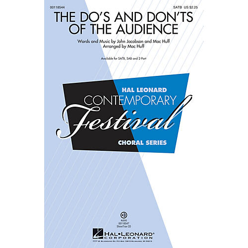 Hal Leonard The Do's and Don'ts of the Audience 2-Part Arranged by Mac Huff