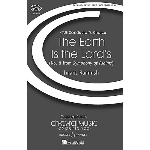 Boosey and Hawkes The Earth Is the Lord's (No. 8 from Symphony of Psalms) CME In High Voice SATB composed by Imant Raminsh