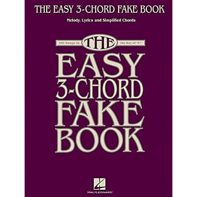 Hal Leonard The Easy 3-Chord Fake Book - Melody, Lyrics & Simplified Chords In Key Of C