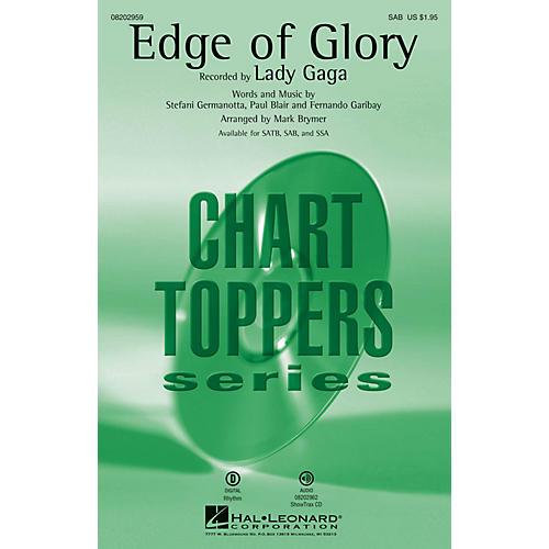 Hal Leonard The Edge of Glory SAB by Lady Gaga arranged by Mark Brymer