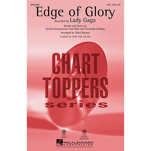 Hal Leonard The Edge of Glory SSA by Lady Gaga arranged by Mark Brymer
