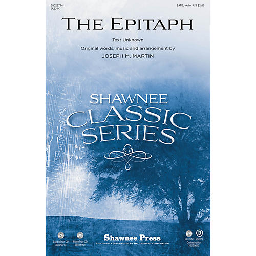 Shawnee Press The Epitaph Studiotrax CD Composed by Joseph M. Martin