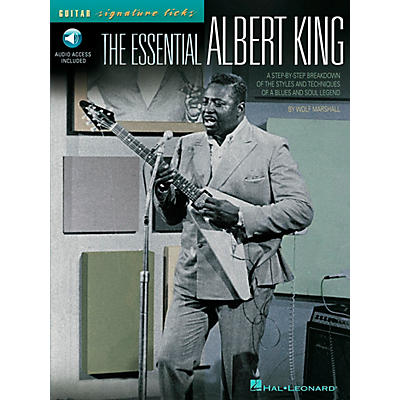 Hal Leonard The Essential Albert King Guitar Signature Licks Book with CD