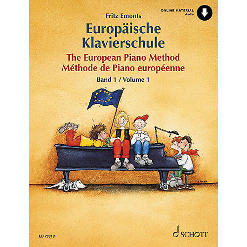 Schott The European Piano Method - Volume 1 (German/French/English) Schott Series