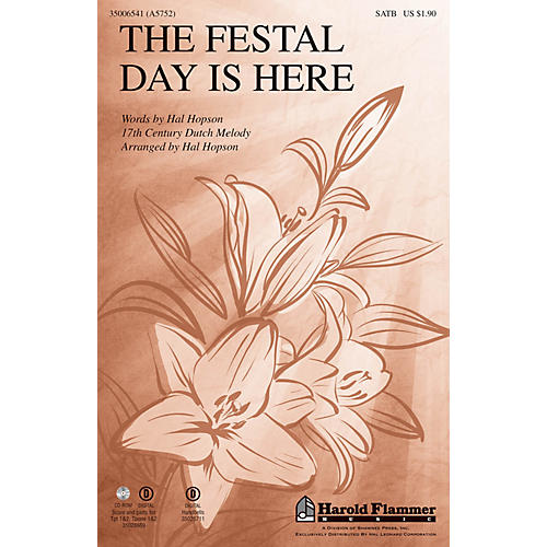 Shawnee Press The Festal Day Is Here SATB arranged by Hal Hopson