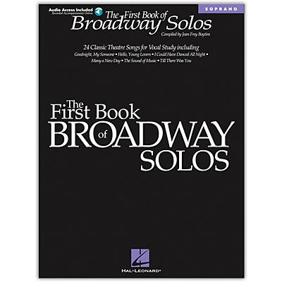 Hal Leonard The First Book of Broadway Solos (Book/Online Audio)