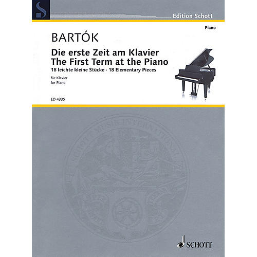 Schott The First Term at the Piano - 18 Elementary Pieces Schott Series Softcover