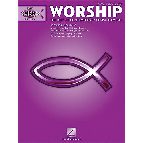 Hal Leonard The Fish Series: Worship (Purple Book) arranged for piano, vocal, and guitar (P/V/G)