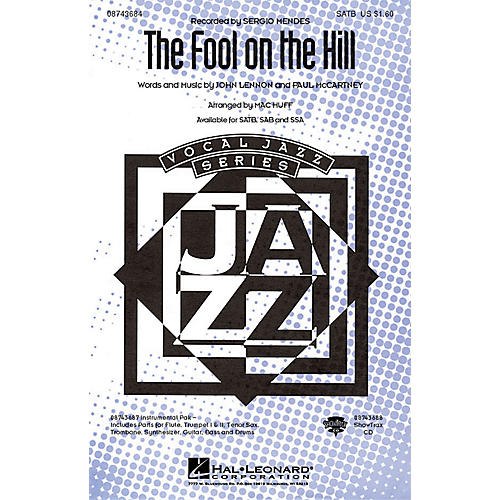 Hal Leonard The Fool on the Hill SATB by The Beatles arranged by Mac Huff