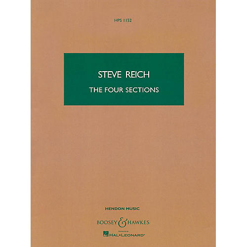 Boosey and Hawkes The Four Sections (Study Score) Boosey & Hawkes Scores/Books Series Composed by Steve Reich