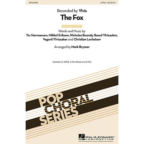 Hal Leonard The Fox 2-Part by Ylvis arranged by Mark Brymer