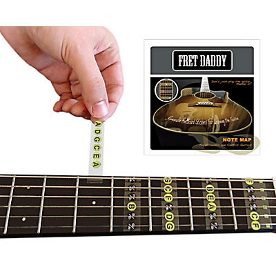 Fret Daddy The Fretboard Note Map for Electric/Acoustic Guitar