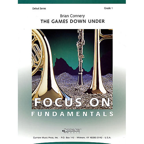 Curnow Music The Games Down Under (Grade 1 - Score Only) Concert Band Level 1 Composed by Brian Connery