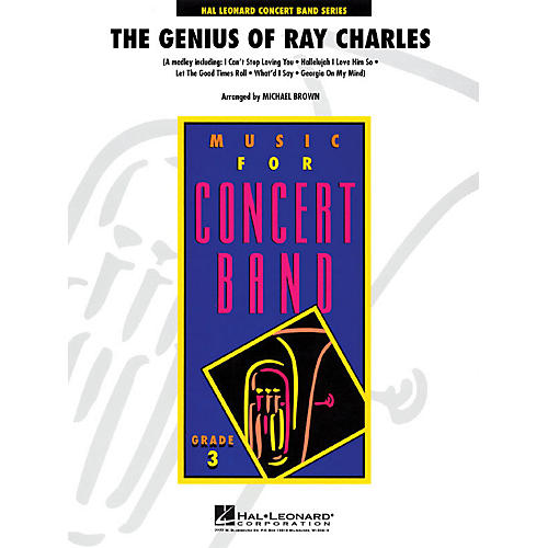 Hal Leonard The Genius of Ray Charles - Young Concert Band Level 3 by Michael Brown