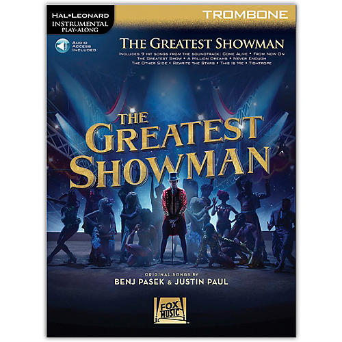 Hal Leonard The Greatest Showman Instrumental Play-Along Series for Trombone Book/Online Audio