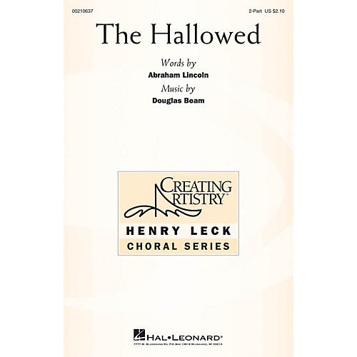Hal Leonard The Hallowed 2-Part composed by Douglas Beam