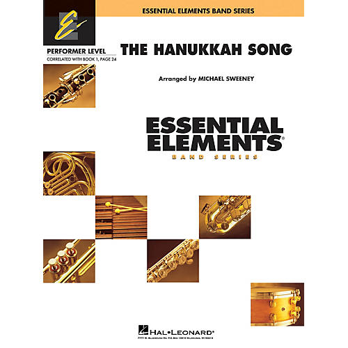 Hal Leonard The Hanukkah Song Concert Band Level .5 to 1 Arranged by Michael Sweeney
