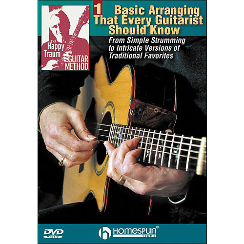 Homespun The Happy Traum Guitar Method: Basic Arranging Techniques DVD 1