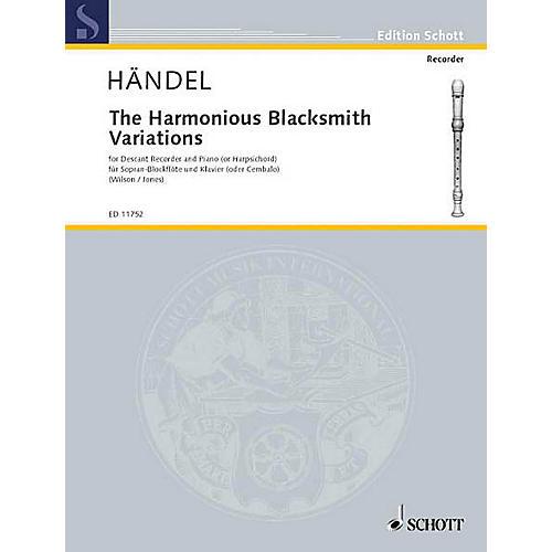 Schott The Harmonious Blacksmith Variations Schott Series