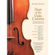 Music Minus One The Heart of the Violin Concerto Music Minus One Series Softcover with CD