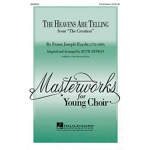 Hal Leonard The Heavens Are Telling 3-Part Mixed arranged by Ruth Artman