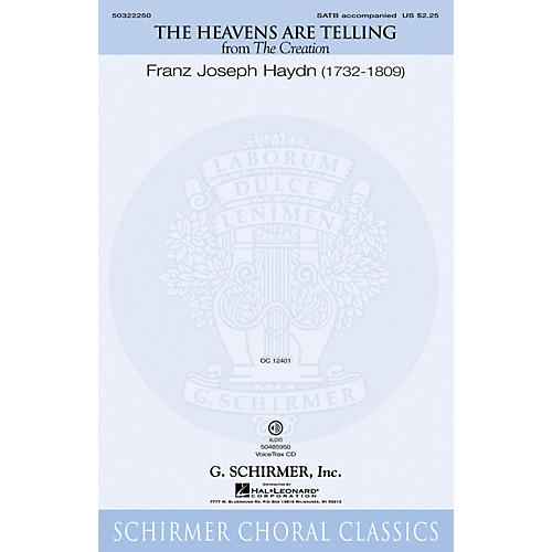 G. Schirmer The Heavens Are Telling (from The Creation) SATB composed by Franz Joseph Haydn