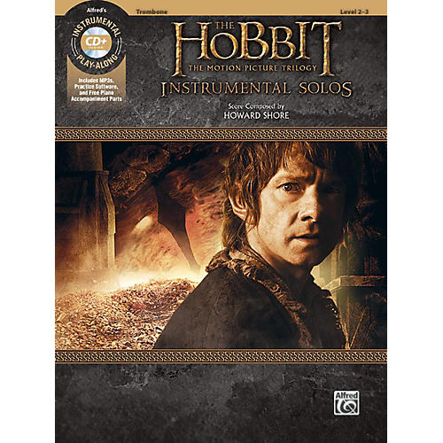 Alfred The Hobbit - The Motion Picture Trilogy Instrumental Solos Trombone Book & CD Level 2-3 Songbook