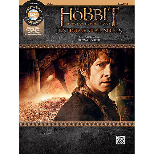 Alfred The Hobbit - The Motion Picture Trilogy Instrumental Solos for Strings Cello Book & CD Level 2-3 Songbook